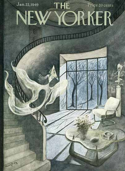 Mary Petty The New Yorker 1949_01_22 Copyright | The New Yorker Graphic Art Covers 1946-1970