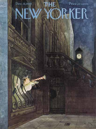 Mary Petty The New Yorker 1949_12_31 Copyright | The New Yorker Graphic Art Covers 1946-1970