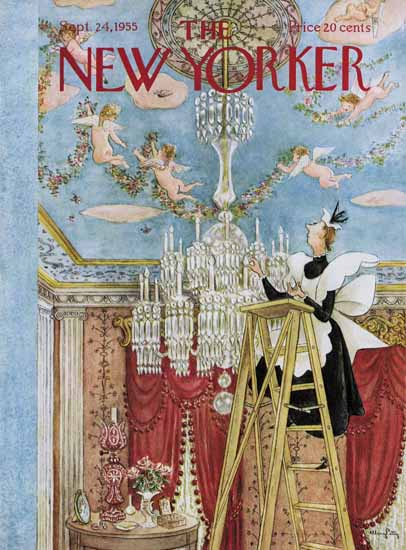Mary Petty The New Yorker 1955_09_24 Copyright   The New Yorker Graphic Art Covers 1946-1970