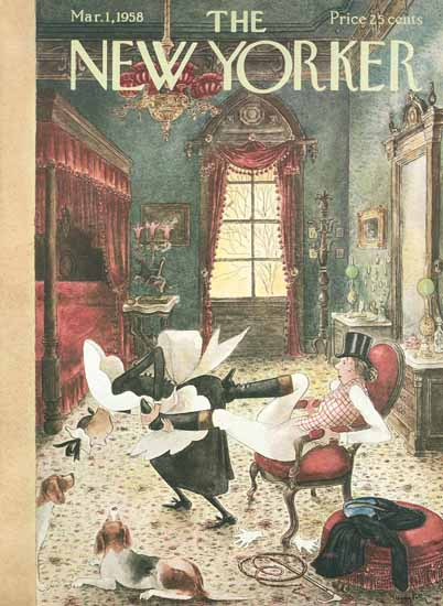 Mary Petty The New Yorker 1958_03_01 Copyright | The New Yorker Graphic Art Covers 1946-1970