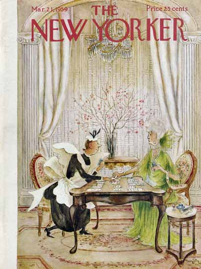 Mary Petty The New Yorker 1959_03_21 Copyright | The New Yorker Graphic Art Covers 1946-1970