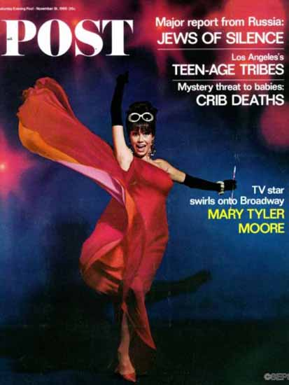 Mary Tyler Moore Saturday Evening Post 1966_11_19 | Vintage Ad and Cover Art 1891-1970