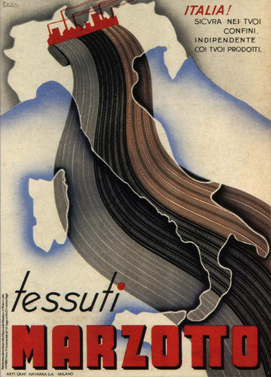 Marzotto Tessuti Italy Italia | Vintage Ad and Cover Art 1891-1970