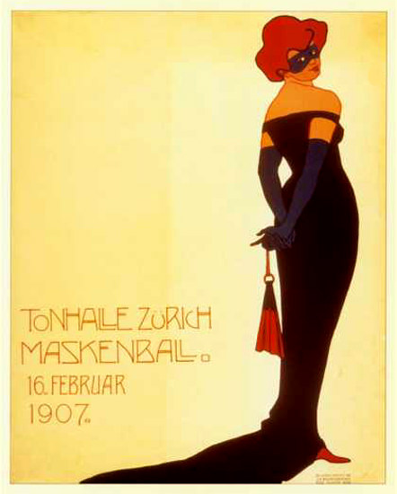 Maskenball Tonhalle Zuerich Switzerland 1907 | Sex Appeal Vintage Ads and Covers 1891-1970