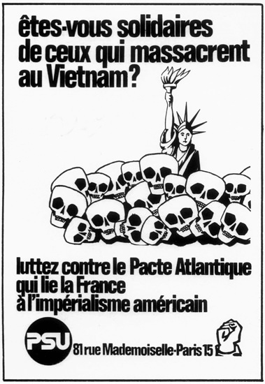 Massacre Au Vietnam France Against The USA | Vintage War Propaganda Posters 1891-1970