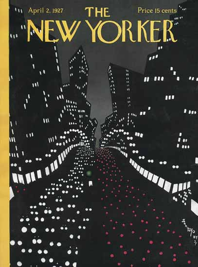 Matias Santoyo The New Yorker 1927_04_02 Copyright | The New Yorker Graphic Art Covers 1925-1945