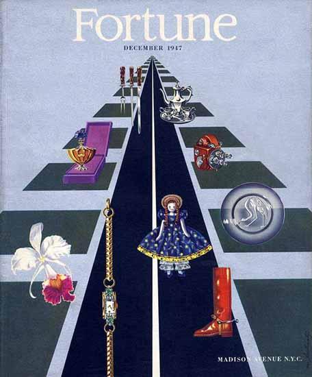 Matthew Leibowitz Fortune Magazine December 1947 Copyright | Fortune Magazine Graphic Art Covers 1930-1959