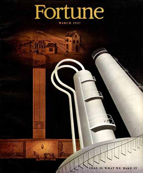 Matthew Leibowitz Fortune Magazine March 1947 Copyright | Fortune Magazine Graphic Art Covers 1930-1959