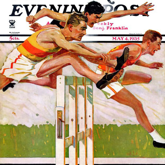 Maurice Bower Saturday Evening Post 1935_05_04 Copyright crop | Best of Vintage Cover Art 1900-1970