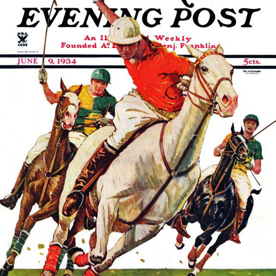 Maurice Bower Saturday Evening Post Polo 1934_06_09 Copyright crop | Best of Vintage Cover Art 1900-1970