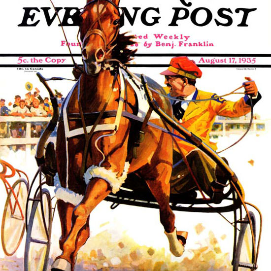 Maurice Bower Saturday Evening Post Race 1935_08_17 Copyright crop | Best of 1930s Ad and Cover Art