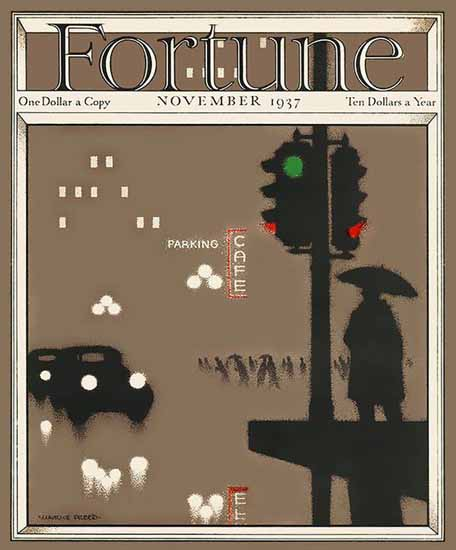 Maurice Freed Fortune Magazine November 1937 Copyright | Fortune Magazine Graphic Art Covers 1930-1959
