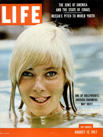 May Britt Swedish Charmer 12 Aug 1957 Copyright Life Magazine | Life Magazine Color Photo Covers 1937-1970