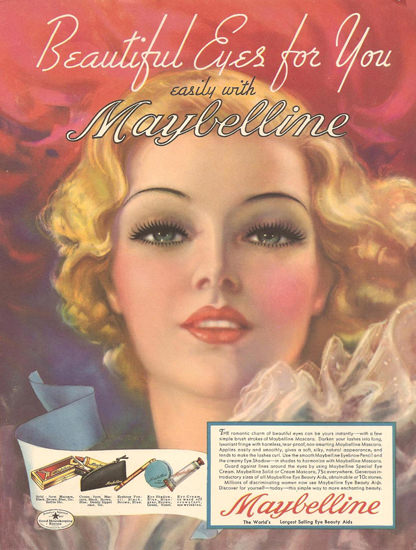 Maybelline Beautiful Eyes For You 1930 | Sex Appeal Vintage Ads and Covers 1891-1970