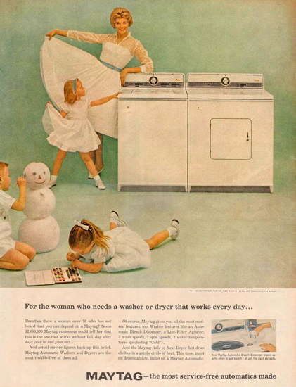 Maytag Washer And Dryer 1959 | Vintage Ad and Cover Art 1891-1970