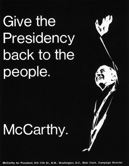 McCarthy Give Presidency Back To The People | Vintage Ad and Cover Art 1891-1970