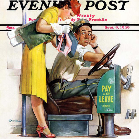McCauley Conner Saturday Evening Post Fare 1939_09_09 Copyright crop | Best of Vintage Cover Art 1900-1970