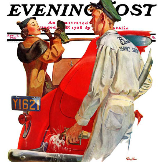 McCauley Conner Saturday Evening Post Fill 1937_04_03 Copyright crop | Best of Vintage Cover Art 1900-1970
