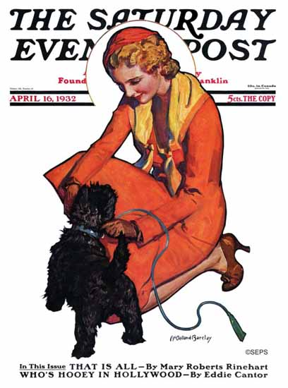 McClelland Barclay Cover Artist Saturday Evening Post 1932_04_16 | The Saturday Evening Post Graphic Art Covers 1931-1969