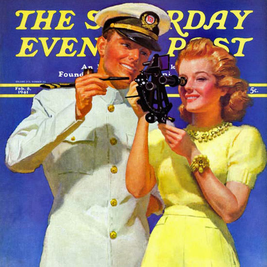 McClelland Barclay Saturday Evening Post 1941_02_08 Copyright crop | Best of Vintage Cover Art 1900-1970