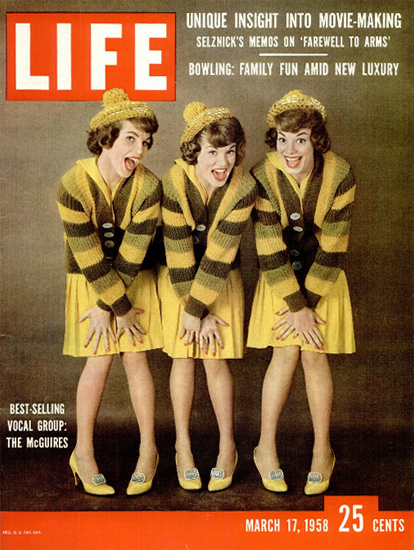 McGuires Best-Selling Vocal Group 17 Mar 1958 Copyright Life Magazine | Life Magazine Color Photo Covers 1937-1970