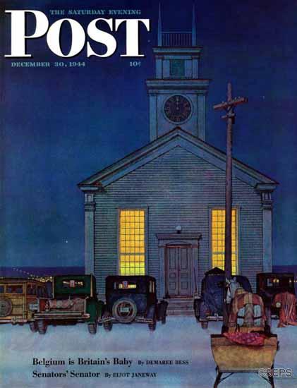 Mead Schaeffer Cover Artist Saturday Evening Post 1944_12_30 | The Saturday Evening Post Graphic Art Covers 1931-1969