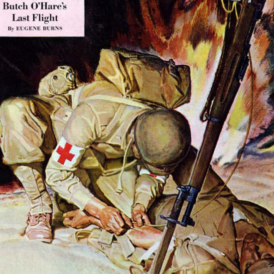 Mead Schaeffer Saturday Evening Post Medic 1944_03_11 Copyright crop | Best of Vintage Cover Art 1900-1970