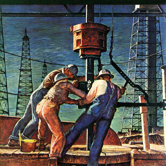 Mead Schaeffer Saturday Evening Post Oil 1946_11_09 Copyright crop | Best of Vintage Cover Art 1900-1970