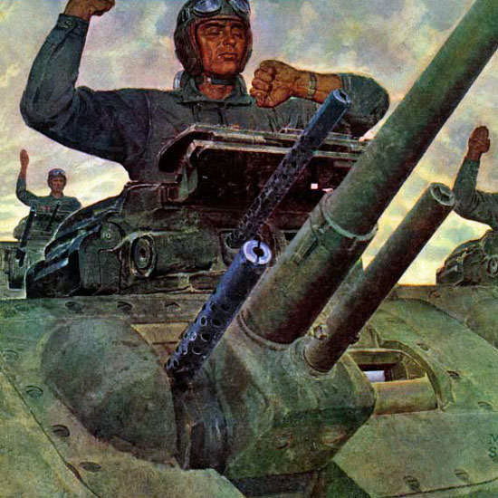 Mead Schaeffer Saturday Evening Post Tank 1943_01_09 Copyright crop | Best of Vintage Cover Art 1900-1970