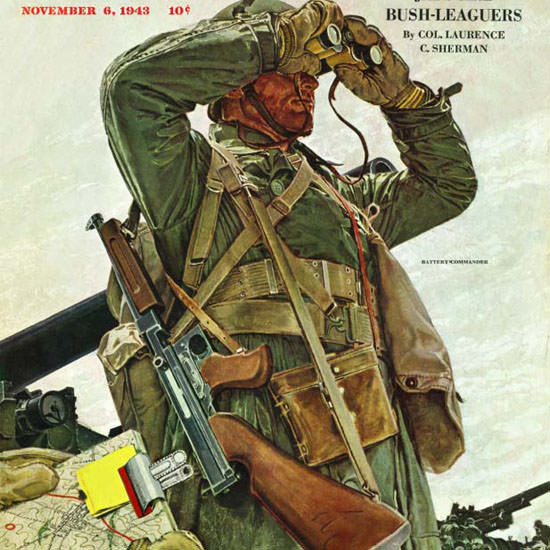 Mead Schaeffer Saturday Evening Post Tank 1943_11_06 Copyright crop | Best of 1940s Ad and Cover Art