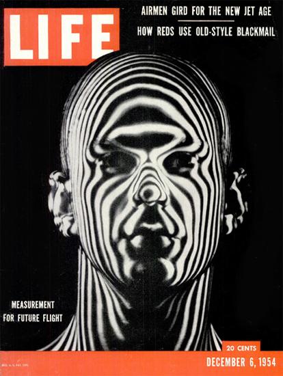 Measured for a Flight Helmet 6 Dec 1954 Copyright Life Magazine   Life Magazine BW Photo Covers 1936-1970