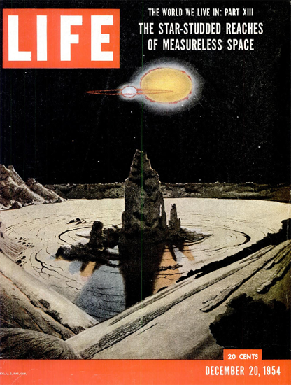 Measureless Space Science 20 Dec 1954 Copyright Life Magazine | Life Magazine Color Photo Covers 1937-1970