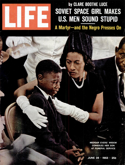 Medgar Evers Funeral Widow Son 28 Jun 1963 Copyright Life Magazine | Life Magazine Color Photo Covers 1937-1970