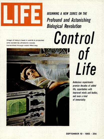 Medical Ultrasonic Control of Life 10 Sep 1965 Copyright Life Magazine | Life Magazine Color Photo Covers 1937-1970