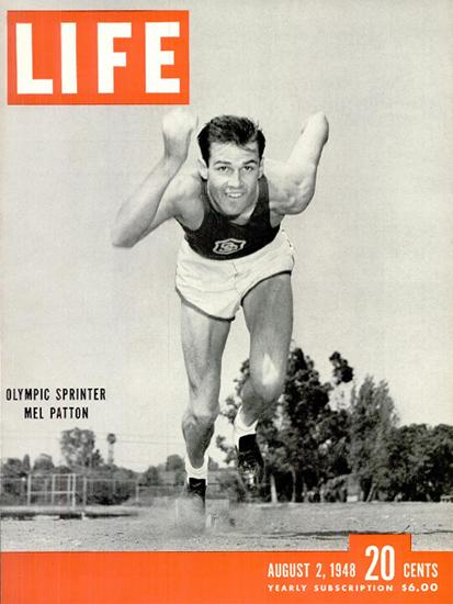 Mel Patton Olympic Sprinter 2 Aug 1948 Copyright Life Magazine | Life Magazine BW Photo Covers 1936-1970