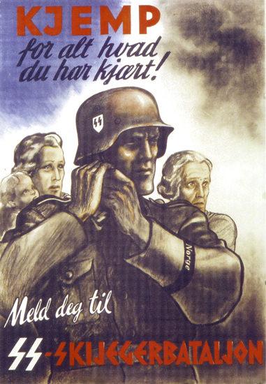 Meld teg til SS Skijegerbataljon Netherlands   Vintage War Propaganda Posters 1891-1970