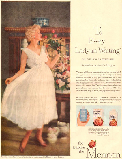 Mennen To Every Lady-In-Waiting 1957 | Sex Appeal Vintage Ads and Covers 1891-1970