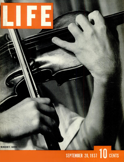 Menuhins Hands 20 Sep 1937 Copyright Life Magazine | Life Magazine BW Photo Covers 1936-1970