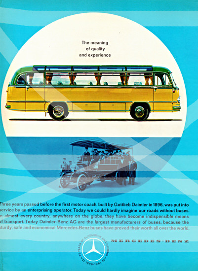 Mercedes Benz Buses 1961 Meaning Of Quality | Vintage Cars 1891-1970