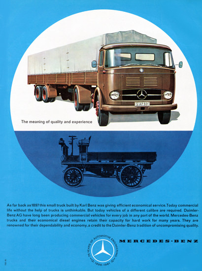 Mercedes Benz Trucks 1897 To 1961 | Vintage Cars 1891-1970