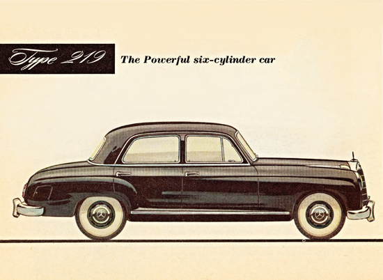 Mercedes Benz Type 219 Sedan 6 Cylinder 1956 | Vintage Cars 1891-1970