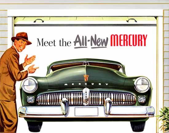 Mercury 1949 Ad Meet the All-New | Vintage Cars 1891-1970