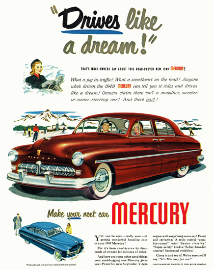 Mercury 1949 Drives Like A Dream Red | Vintage Cars 1891-1970