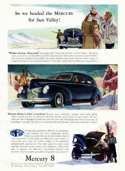 Mercury 8 Town Sedan 1940 For Sun Valley | Vintage Cars 1891-1970
