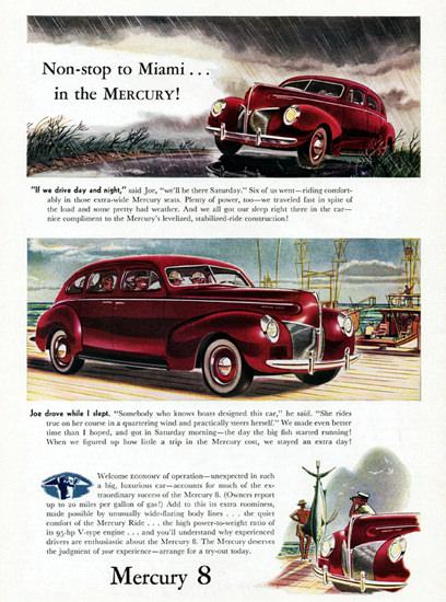Mercury 8 Town Sedan 1940 Non Stop To Miami | Vintage Cars 1891-1970