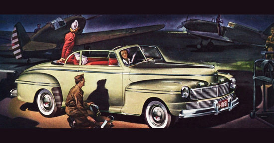 Mercury Club Convertible 1942 Air Force | Vintage Cars 1891-1970