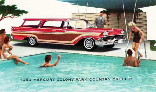 Mercury Colony Park Country Cruiser Station 1959 | Vintage Cars 1891-1970