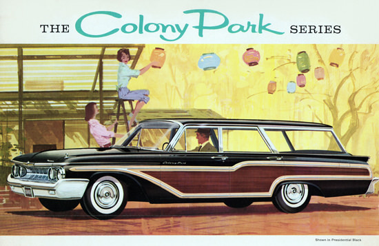 Mercury Colony Park Station 1961 Lampion | Vintage Cars 1891-1970