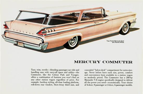 Mercury Commuter 2 Door Hardtop Wagon 1959 | Vintage Cars 1891-1970