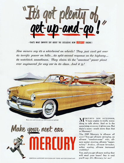 Mercury Convertible 1949 Get Up And Go | Vintage Cars 1891-1970